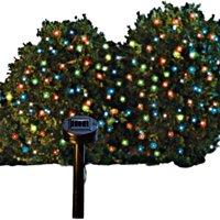 Festive Outdoor String Lights, Solar Powered, 60 Lights, Multi Color Lig