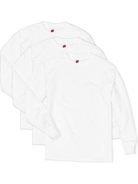 Hanes ComfortSoft Long Sleeve Tee, 3-Pack Set (Little Boys & Big Boys)