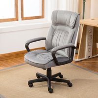 Belleze Executive Office Chair High Back Microfiber Padded Contemporary, Gray