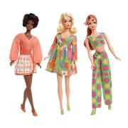 Barbie Mod Friends Gift Set with 3 Dolls in Retro Looks