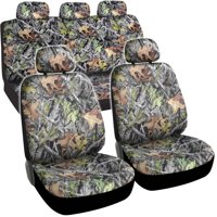 BDK Hawg Camo Full Car Seat Covers, Full Front and Rear Set, 9pcs