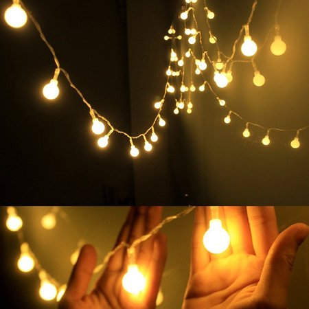 3M 300LED String Lights, Warm White Ball Fairy Lights, Waterproof Decorative Starry Lights for Bedroom Patio Parties, Battery Powered
