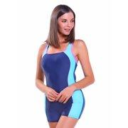 a501eb9201 FITTOO Womens Boyleg Sports One-Piece Halterneck Bathing Suit Athletic  Racerback Swimsuits Pro Swimwear