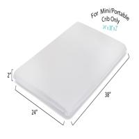 "LA Baby 2"" Waterproof Mini/Portable Crib Mattress Pad – Non Full Size"