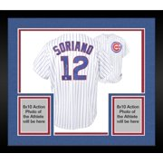 530653f3 Framed Alfonso Soriano Chicago Cubs Autographed White Pinstripe Majestic  Replica Jersey - Fanatics Authentic Certified
