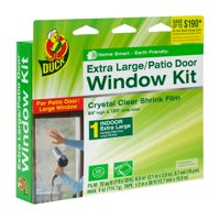 Duck Brand Shrink Window Kit, Extra Large Patio Door, 84 in. x 120 in.