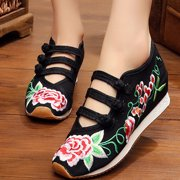 buy online 9d75f fa0bb Meigar Women Embroidered Retro Shoes Casual Sneakers Chinese Style