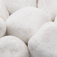 "20 lb Large Pebbles, 2"" to 3"", White"