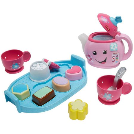 Fisher-Price Laugh & Learn Sweet Manners Tea Set with Lights & (Toddler Computer Learning)