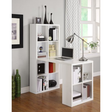 Ameriwood Home London Hobby Desk with Storage Cubes, Multiple (Cocktail Table Storage Cubes)