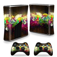 Mightyskins Protective Vinyl Skin Decal Cover for Microsoft Xbox 360 S Slim + 2 Controller skins wrap sticker skins 3D