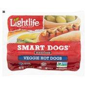 Lightlife Smart Dogs Meatless Veggie Hot Dogs, 8 count, 12 oz
