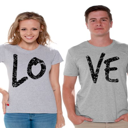 Awkward Styles Couple Shirts Love Couple Matching Shirts Love T Shirts for Couples Love Couple Matching Outfits Valentine's Day Gift for Couple Love Couple T-shirt Happy Valentines Day](Halloween Outfits Couples)