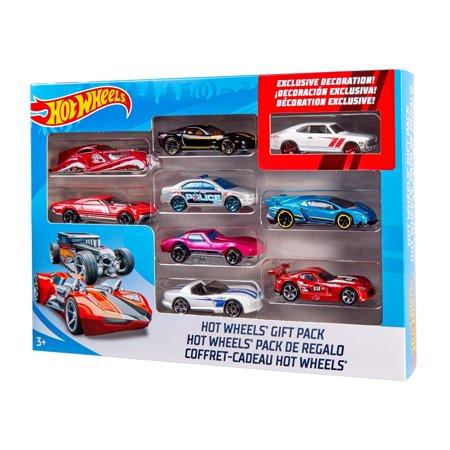 Hot Wheels 9 Car Gift Pack Styles May Vary Walmart Com