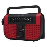 Weather-X Wr383r Weatherband AM/FM Radio with Flashlight