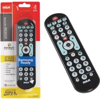 RCA RCRBB04GR 8-Device Big Button Universal Remote with Streaming & Dual Navi...