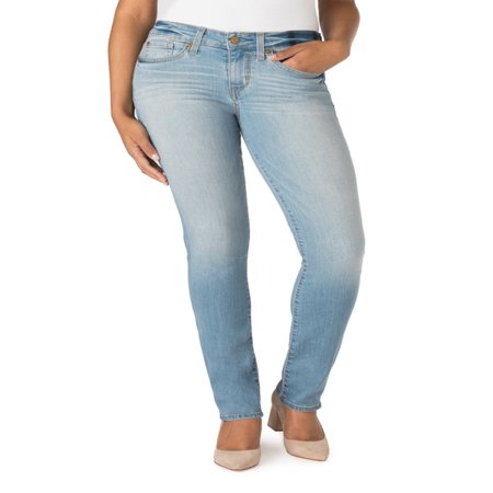 Signature by Levi Strauss & Co. Women's Modern Straight Jeans (Levis Loose Boot)