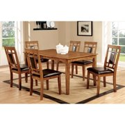 90147a3af5fe99 Furniture of America Blandford 7 Piece Wood Dining Table Set