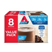 Atkins Dark Chocolate Royale Shake, 11Fl oz., 8-pack (Ready To Drink)