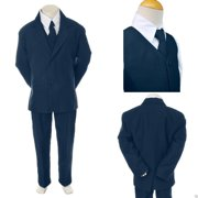 876685372c78 Baby Toddler Kid Teen Boy Wedding Formal Party Navy Blue 5pc Tuxedo Suit sz  S-