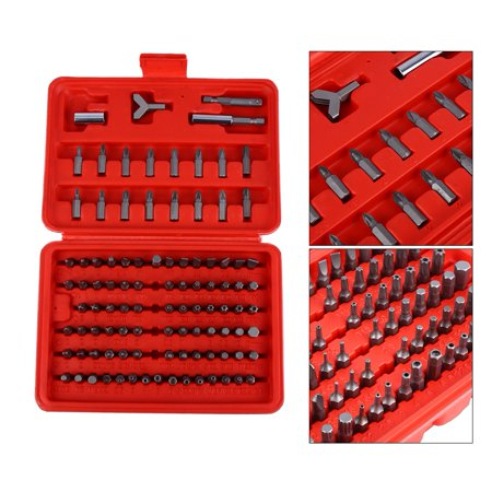 Yosoo 100pc Security Bit Set / Metric & SAE Tamper Proof Torx Star Hex Key Screwdriver, Tamper Proof Torx Star Hex Key Screwdriver, Metric