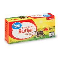 Great Value Sweet Cream Salted Butter Sticks, 4 ct, 16 oz