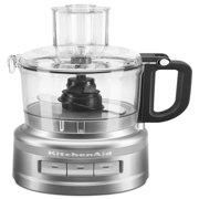 KitchenAid 7-Cup Food Processor, Contour Silver (KFP0718CU)