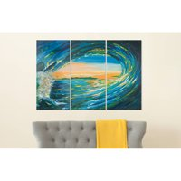 Safavieh Blue Grotto Triptych Wall Art, Assorted