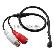 Mic Audio Spy Hidden Microphone Cable for CCTV Security Surveillance Camera DVR