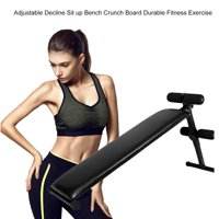 Adjustable Decline Sit up Bench Crunch Board Durable Fitness Exercise