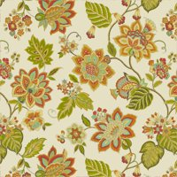 Waverly Inspirations FLORAL PAPAYA 100% Cotton duck fabric, Quilting fabric, Home Decor ,45'', 180GSM