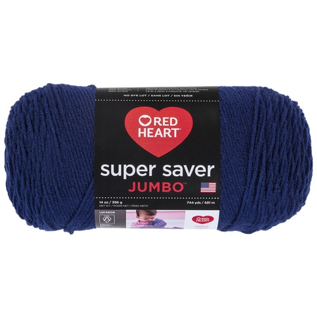 Dk Weight Sock Yarn - Red Heart Super Saver Acrylic Soft Navy Yarn, 1 Each