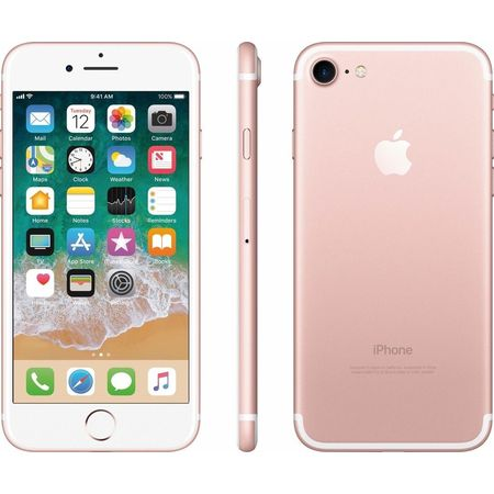 Refurbished Apple iPhone 7 128GB, Rose Gold - Unlocked (Best Phone Only Deals)