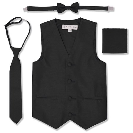 Johnnie Lene Boys Formal Dupioni Tuxedo Vest Set JL34 - Purple Aladdin Vest