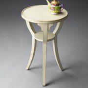 Butler Round Accent Table 24H in. - Cottage White