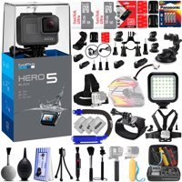 GoPro Hero 5 Hero5 4K Ultra HD Digital Camera w 32GB - 40PC Sports Action Bundle - 32GB SD Card- Window Mount- Helmet Mount- Chest Mount- X-GRIP- High Power Video Light & MUCH MORE