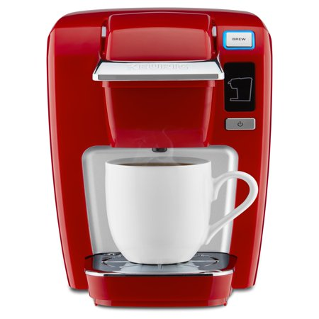 - Keurig K-Mini K15 Single-Serve K-Cup Pod Coffee Maker, Chili Red