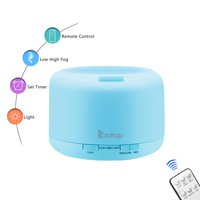 Ktaxon 500ML Ultrasonic Aroma Humidifier Air Diffuser Purifier Lonizer Atomizer with 7 Color LED and Remote Control Timer