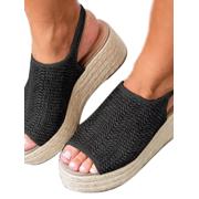 f37636b9e Women Wedge Heel Espadrille Flatform Slingback Sandals Peep Toe Shoe