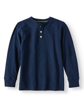 Long Sleeve Henley Tee (Little Boys & Big Boys)