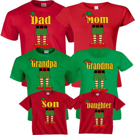 Halloween Matching Christmas ELF Elves Cute T-Shirts Incredible Family MOM DAD KIDS GoCustom