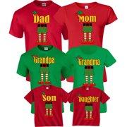 0726b2210 Halloween Matching Christmas ELF Elves Cute T-Shirts Incredible Family MOM  DAD KIDS GoCustom