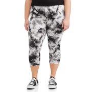 47727aaa1099de Juniors' Plus Size Tie-Dye Printed Capri Leggings