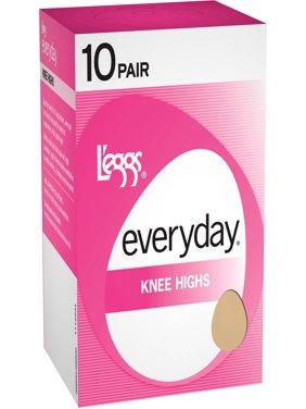 Women's Everyday Knee High Hosiery, 10-Pack