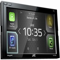 JVC Refurbished KW-M730BT compatible with Apple CarPlay, Android Auto 2-DIN AV Receiver (No CD Drive)