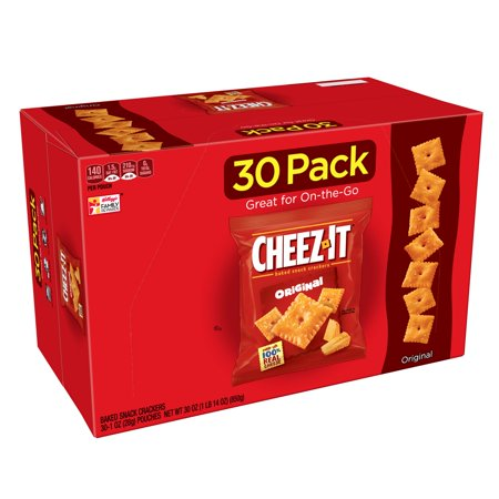 Cheez-It Baked Original Snack Crackers, 1 Oz., 30 Count - Minion Snacks