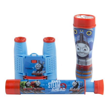 Sakar 26085 Thomas & Friends 3PC Adventure Kit (Binoculars, Telescope, & Flashlight)