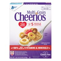(2 Pack) Multi Grain Cheerios Gluten Free Cereal, 18 oz