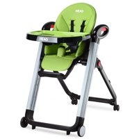Reclining High Chair for Baby and Toddler Multi-Height Green