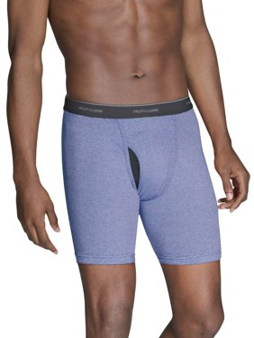 Men's CoolZone Fly Dual Defense Stripe and Solid Boxer Briefs, 7 Pack